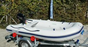 Schlauchboot Set mit Marlin Trailer und Mercury Motor
